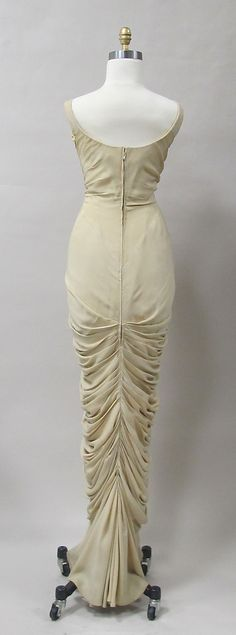 Charles James Evening Dress, c 1955 (back)