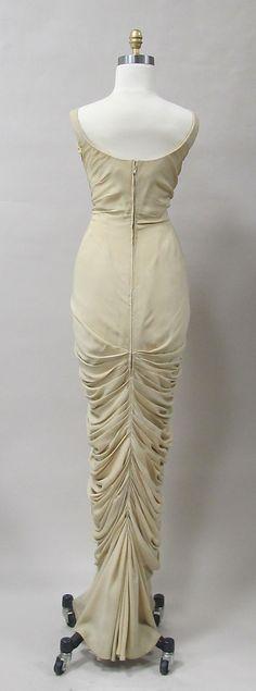 Charles James Evening Dress, c 1955 (back)