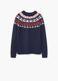 Chunky-knit sweater   MANGO