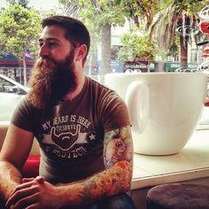 Beards to drive us crazy! Badass Beard, Epic Beard, Full Beard, Et Tattoo, Beard Tattoo, Tattoos, Handsome Bearded Men, Hairy Men, Great Beards