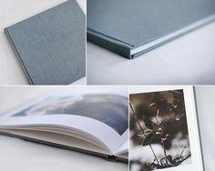 Press printed RedTree Book in blue smoke linen   Photo by Heather Equitz #redtreealbums #photobook #fineart #printyourphotos