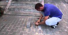 Increible lo que esta persona encontro debajo de una acera y mas increible aun que alguien se capaz de hacer tal acto .