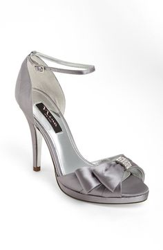 Royal Silver Designer Heels From Nina