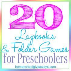 20 Lapbooks and File Folder Games for Preschoolers - Homeschool Giveaways File Folder Activities, Pre K Activities, File Folder Games, Preschool Learning Activities, File Folders, Learning Centers, Preschool Prep, Preschool At Home, Preschool Classroom