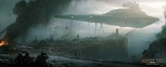 STAR WARS Rogue One concept art by Andree Wallin.  Andree writes: This is a concept I did for Rogue One during early pre-production. This wa...