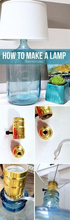 DIY - bottle lamp for living room #homedecor #rustic #budget #project @istandarddesign