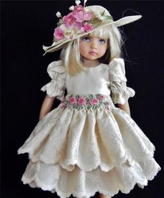 "DRESSES,HAT & SHOES SET MADE FOR EFFNER LITTLE DARLING &SIMILAR SIZE 13""DOLL"