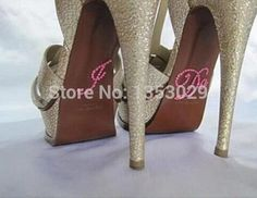 Free Shipping 10Pairs I Do Stickers for Wedding Shoes Pink Crystal Rhinestone Wedding Shoe Applique Stickers Bride I Do Decals