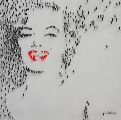 Using real people to make a portrait of Marilyn Monroe - Craig Alan