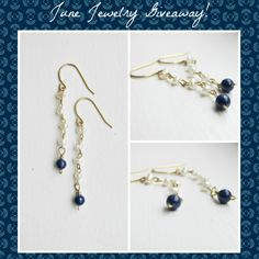 Come enter to win this lovely pair of handmade earrings! They feature freshwater pearls and lapis lazuli on solid brass. http://giveawaycentral21.blogspot.com/ @Etsy #giveaway #jewelry #handmadejewelry