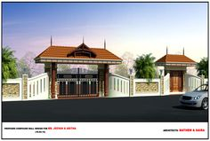 Proposed Compond Wall for Mr. Jeevan & Abitha by Mathewandsaira architects in cochin