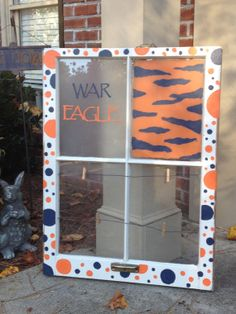 Auburn War Eagle Window Pane by PolkaDachDesigns on Etsy, $60.00