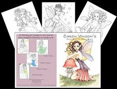 Caron Vinson's Fairy Fun Coloring Book by Caron Vinson. $10.95. Faery's Coloring Book for All Ages featuring 20 beautiful faery, mermaid, and pixie images to color, paint, crayon and FRAME!  All beautiful 8 x 10 sizes!  The back inside cover of the coloring book is a full size 8 x 10 feature print of the Art by Caron Vinson.  All of the enchanting pictures are creating from paintings and drawings from this fantastic fantasy artist.  Each fantasy sprite page has f...