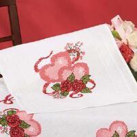 Village Linens™ Valentine's Day Table Runner Stamped Cross-Stitch Kit