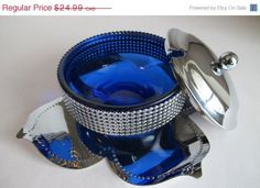 20% SALES DISCOUNT Mid Century Modern Decor Blue by EarthsTrove