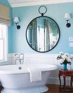 46 Best Blue Bathrooms Images Bathroom Home Decor Restroom - Blue-bathroom-ideas