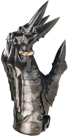 Gauntlet of Sauron from Lord of the Rings  This would look awesome on my mantle peice next to blurays