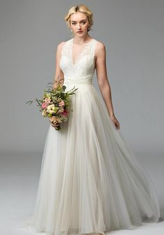 Wedding dress with convertible straps   Willow by Watters Tilda 57703   http://knot.ly/64908Hcm4