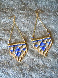 """Boucles d'oreille Ethnique-Folk-Navajo-Aztèque """"ISIS"""""""