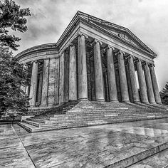 Lincoln Memorial in Black and White