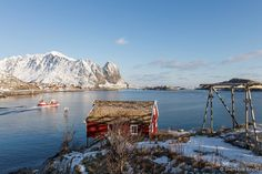 #EarthCapture by @fotoknoff in Reine Lofoten Norway. A local fishing boat on the way to cod fishing. There is a lot of cod in the sea around Lofoten islands at this time of year. by bbcearth