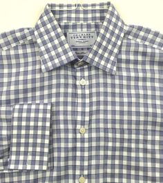 CHARLES TYRWHITT Men's Extra Slim Fit French Cuff Dress Shirt Size 16-35 (41/89) #CharlesTyrwhitt