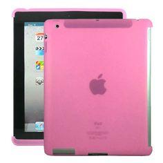 Soft Shell Smart Cut (Rosa) Deksel for iPad 3