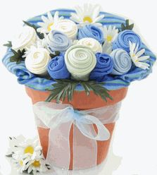 Baby Clothing Bouquet. Like this idea for a shower gift