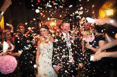 wedding exit confetti