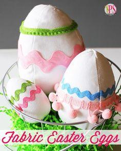 CUTE Fabric Easter Egg #yearofcelebrations  - Softie Pattern and Tutorial :: PositivelySplendid.com