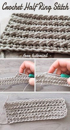 Learn how to crochet this stitch with free tutorial. Different Crochet Stitches, Crochet Stitches For Blankets, Crochet Stitches Free, Crochet Diy, Crochet Motifs, Crochet World, Tunisian Crochet, Crochet Basics, Crochet Blanket Patterns