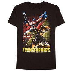 Boys 8-20 Transformers Tee, Black