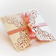 """Boda invitación tarjeta patrón 6 * 6"""" encaje de rosas plantilla pliegues (studio V3, svg, dxf, ai, eps, png, pdf) láser papel troquelado Silhouette Cameo"""