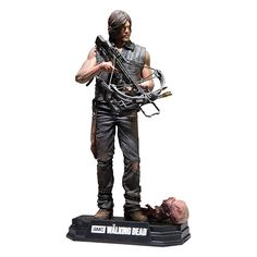 "Get it here: https://amzgt.com/w105 McFarlane Toys The Walking Dead TV Daryl Dixon 7"" Collectible Action Figure _________________________________________ - New 7"" scale figure packaged in a numbered Color Tops Collector Edition Window Box. Color Tops Red Wave #6 - Figure includes multiple points of articulation and stylized display base with brand specific callout - Comes with crossbow, knife, walker head with Spine. - Spectacular likeness of Daryl Dixon taken from 3D scans of actor Norman…"
