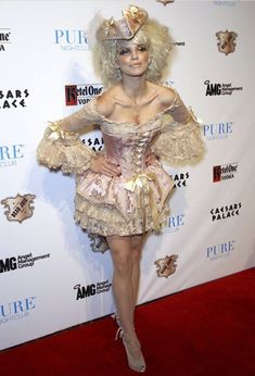 Mary Antoinette inspired costume. She may have worn something of the sort to entertain the Dauphin behind closed doors.