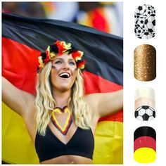 Ladies, Are your Nails ready for the World Cup? Check out our Germany inspired collage. Note: The German Flag nail wrap shown in the collage was designed by cutenailideas.net and can be created in the Jamberry Nail Art Studio. To request the template please visit our page by clicking on this image. Subscribe to our blog for original content. Re-pin your heart out. #GoGermany! #WorldCup2014 #WorldCup #NailArt #JamberryNails #NailWraps