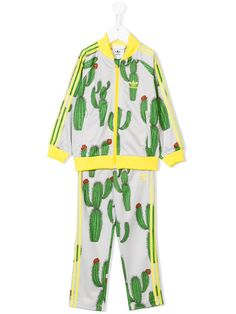 Shop Mini Rodini Adidas Originals x Mini Rodini cactus print tracksuit.