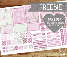 Today is a giveaway day, here an exclusive freebie - a half page printable planner stickers with rose and brown doodle flowers patterns. Click on the image bellow to download. And you'll get a zip ...