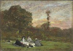 Louis-Eugène Boudin - Déjeuner sur l'herbe