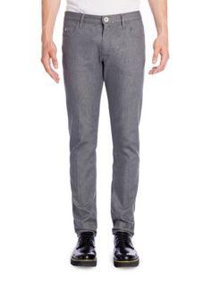 EMPORIO ARMANI Straight-Fit Five Pocket Jeans. #emporioarmani #cloth #jeans
