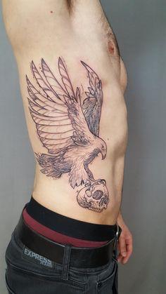 Hawk carrying Skull (SavageSon Reverent Tattoo Las Vegas NV)