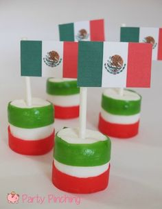 mexican flag food, mexico flag food, mexican flag marshmallows, mexican independence day ideas, cinco de mayo dessert ideas