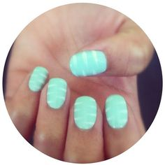 Turquoise Tigress nails!