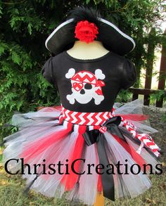 Pirate Costume--Halloween--Girls Party Outfit--Sizes 4T thru 10--Photo Prop