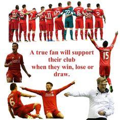 A true fan will support their club when they win lose or draw #LFC #LFCFamily #YNWA #JFT96 #Liverpool #Sturridge #Klopp #Coutinho #Lanalla #Origi #Lovren #WeAreLiverpool #Football #PremierLeague #BPL #EPL