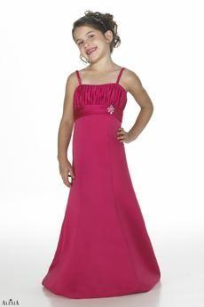A-line Empire Waistline Floor Length Junior Bridesmaid Dress 38d6570bbab8