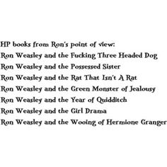 ron's point of view