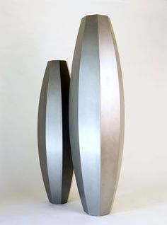 large tall decorative floor vase | Tall Floor Vase in Brushed Stainless Steel for Indoor or Outdoor Use ...