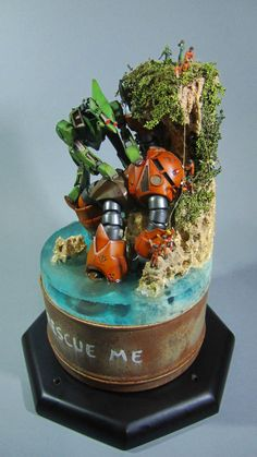 [GBWC 2013] 1/144 Gunpla Diorama: Rescue me. Work by akhusodo Photoreview Big Size Images