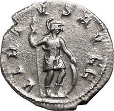 VOLUSIAN 251AD Silver Authentic Ancient Roman Coin Virtus i55706